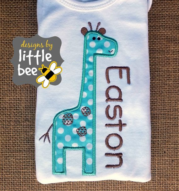 little giraffe adorable baby applique design boy or girl simple applique embroidery design 4x4 AND 5x7 Instant Download
