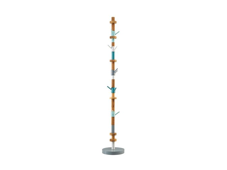 Stack coat stand- blue. Design: Sara Polmar