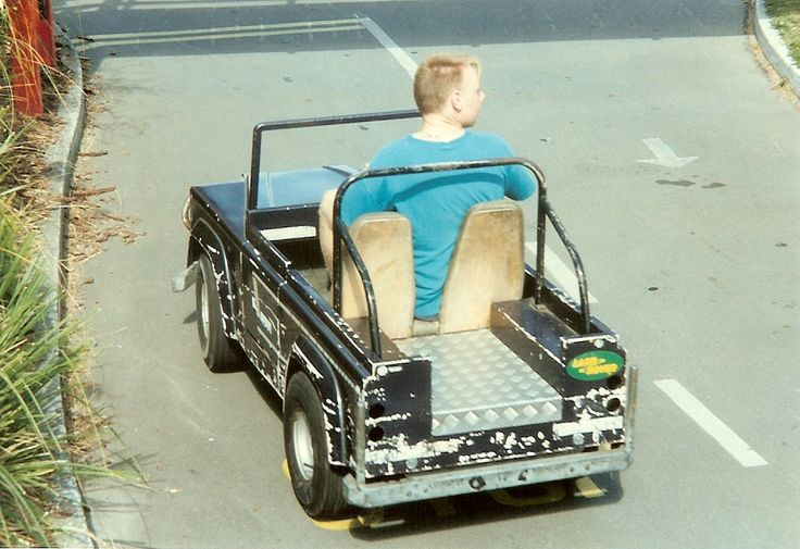 The old QEII park Christchurch NZ.  Back in the day before he bought his first landrover, a 54 Series 1 which he rebuilt.  Other family members were having fun driving mini diggers, bulldozers etc, but not this bod.