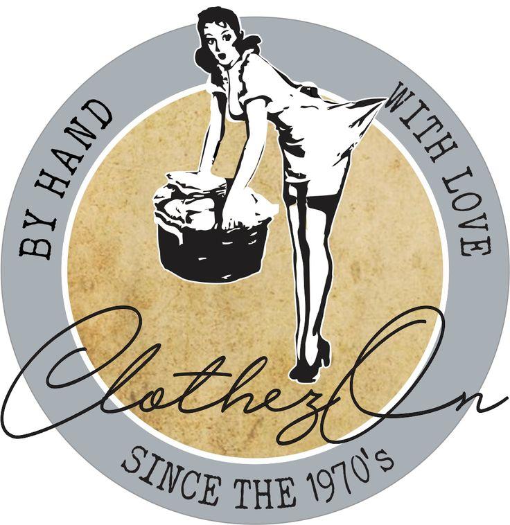 ClothezOn Clothes drying system, handmade since the 1970's #logo #vintage #jaccirdesign