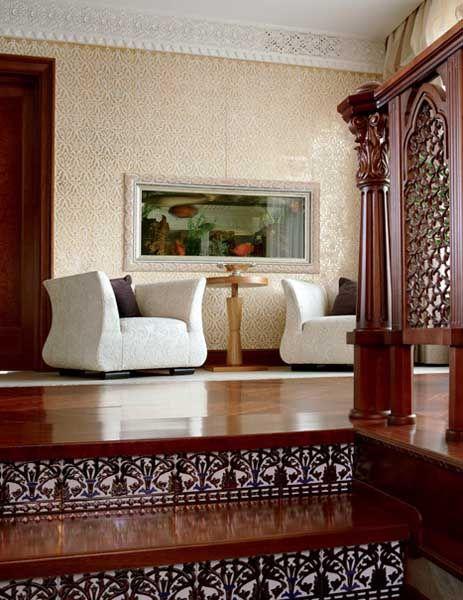 Arabic Decor Motifs In Modern Interior Design Luxurious Penthouse Moscow