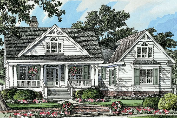 Country Style House Plan - 3 Beds 2 Baths 1905 Sq/Ft Plan #929-8 Exterior - Front Elevation - Houseplans.com