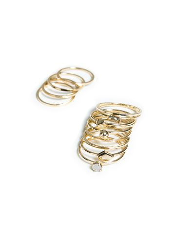 PACK OF THIN RINGS from Zara
