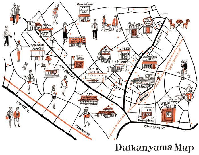 Daikanyama map - Naho Ogawa