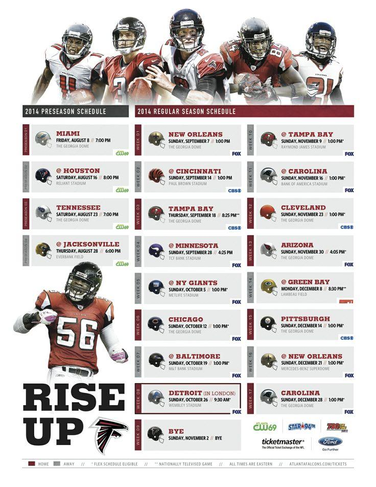 #Falcons 2014 schedule! #RiseUp