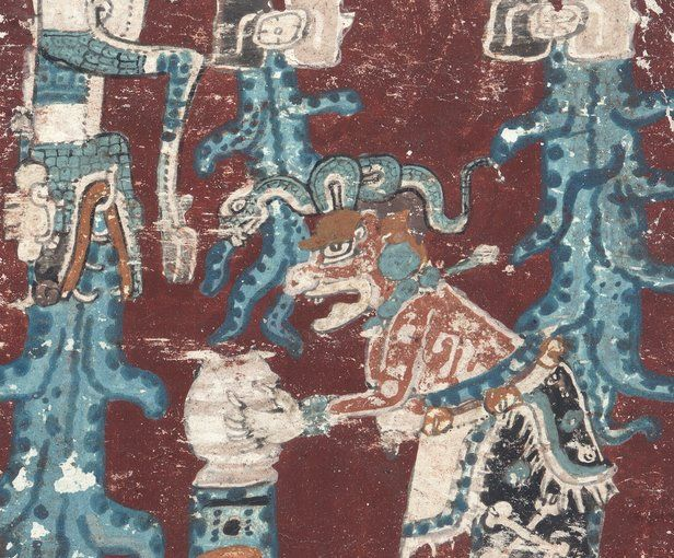 """Only four Mayan manuscripts still exist worldwide, of which the oldest and best preserved is the Dresden Codex, held in the collections of the Saxon State and University Library. The manuscript was purchased for the Dresden court library in 1739 in Vienna, as a """"Mexican book."""" In 1853 it was identified as a Mayan manuscript. Consisting of 39 leaves, inscribed on both sides, and approximately 358 centimeters long, the manuscript originally was folded in an accordion-like manner. The…"""