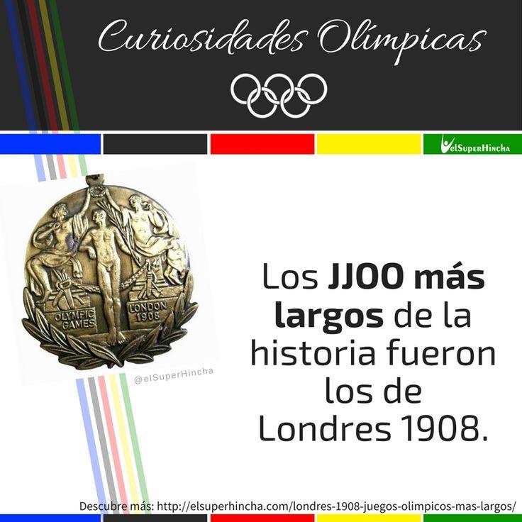 Los #JuegosOlimpicos más largos de la historia duraron más de 6 meses. Descubre más sobre ellos pinchando sobre la imagen... #CuriosidadesOlimpicas #Rio2016