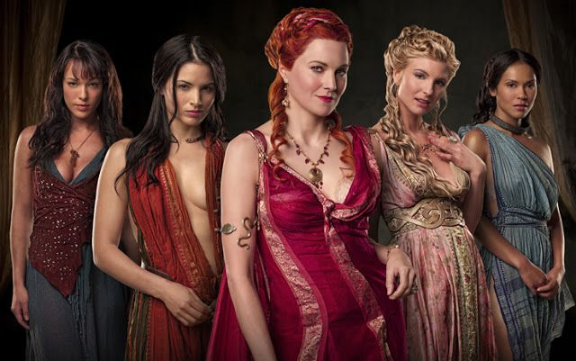 Fashion of Spartacus women...I absolutely love the high powered wives dresses....I WAS BORN IN THE WRONG TIME!!!!