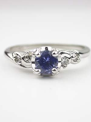 change the saphire to a diamond and it's a beautiful engagement ring