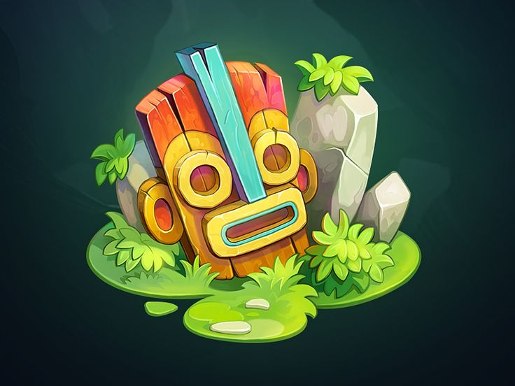 What's up Dribbble! Next small piece from our new game and it's a Tiki Mask! Hope you enjoy it!