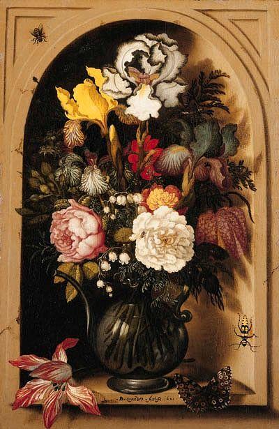 Balthasar van der Ast Flowers in a Niche 1621
