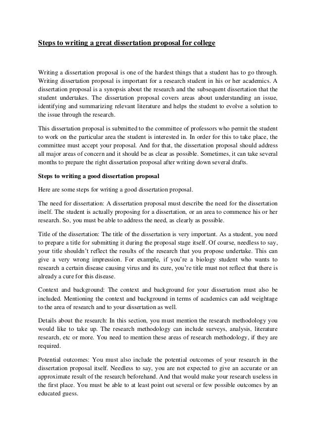 The  Best Research Proposal Format Ideas On