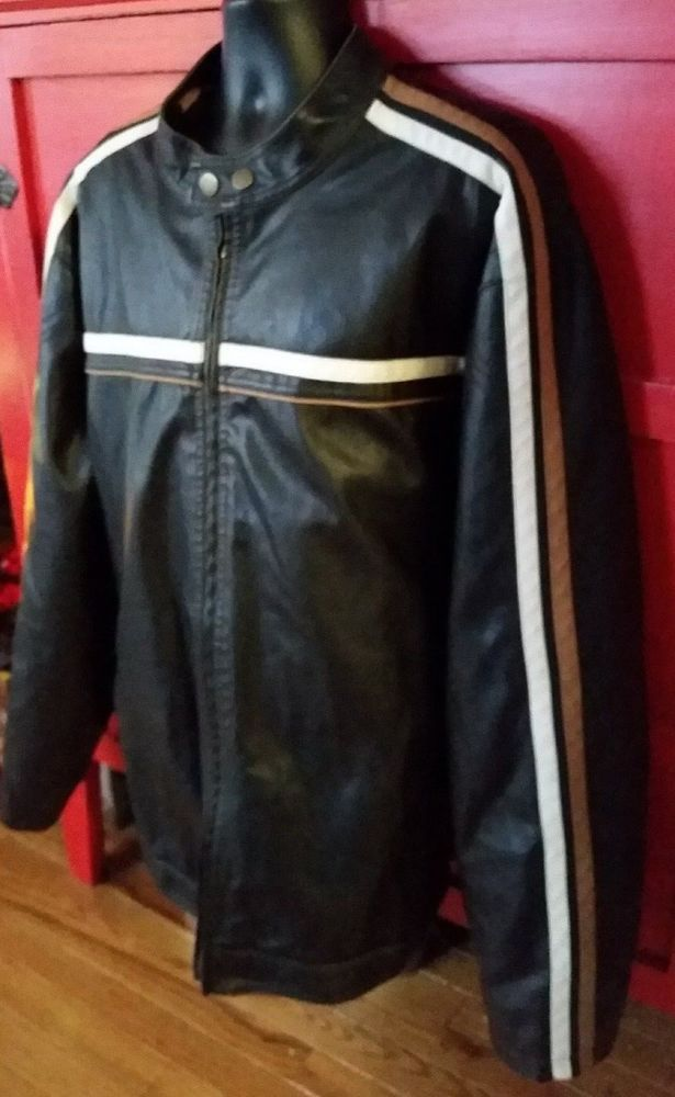 Arizona Brand Cafe Racer Faux Leather Motorcycle Jacket Mens Size 3XLT Big Tall | Clothing, Shoes & Accessories, Men's Clothing, Coats & Jackets | eBay!