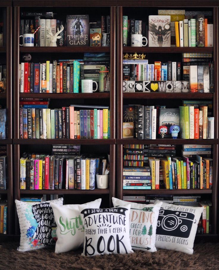 Colorful Book Room: 1000+ Ideas About Bookshelves On Pinterest