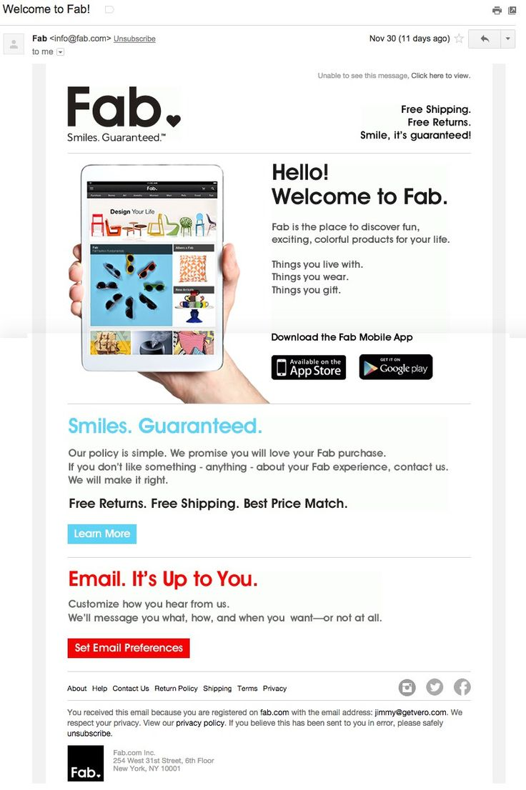21 Welcome Emails to Inspire Your Lifecycle Marketing