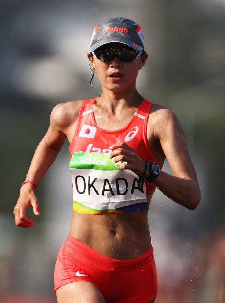 Kumiko Okada Photos - Kumiko Okada of Japan competes in the Women's 20km Walk final on Day 14 of the Rio 2016 Olympic Games at Pontal on August 19, 2016 in Rio de Janeiro, Brazil. - Athletics Race Walk - Olympics: Day 14 #Rio2016 #リオ五輪