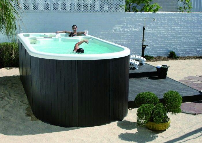 Zwemmen op een klein oppervlak...handig!!