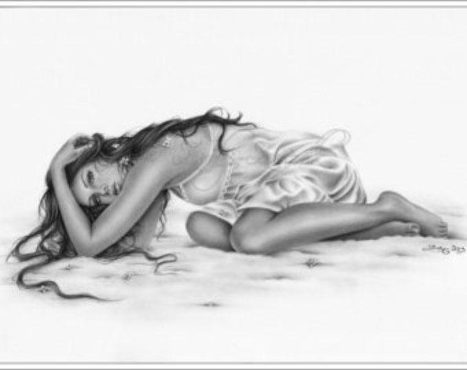 Neverlasting Winter Emo Kunstdruck/Poster glänzend Fantasy Girl Zindy Nielsen
