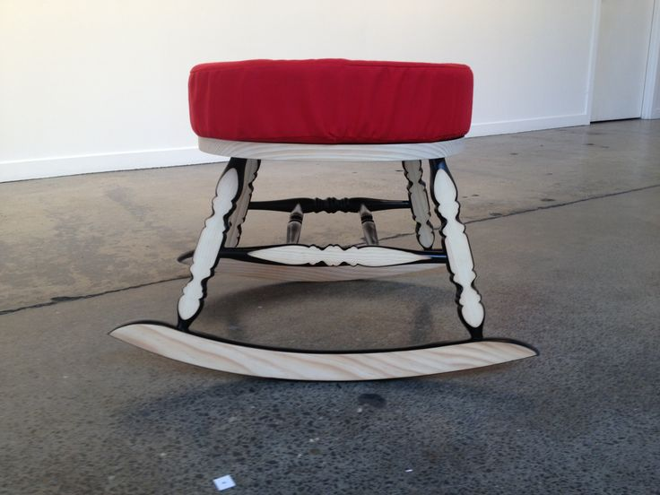 Redesigned rocking chair. It's the Rocker Stool