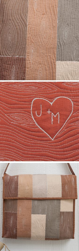 Free-motion quilting: wood grain