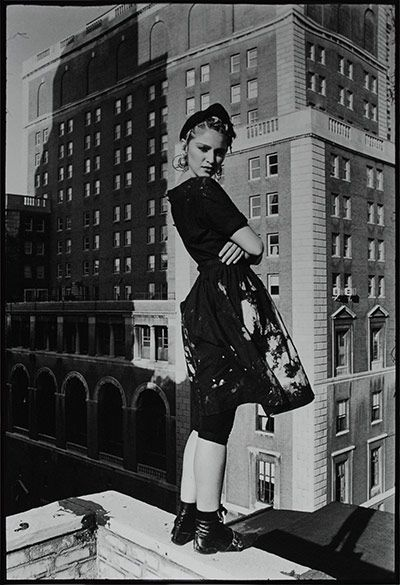 Madonna on the roof of Kate Simon's studio on West 58th Street, New York, 1983.