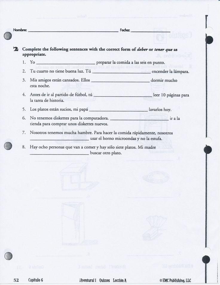 Para Empezar Worksheet Answers Raymond J Fisher Middle