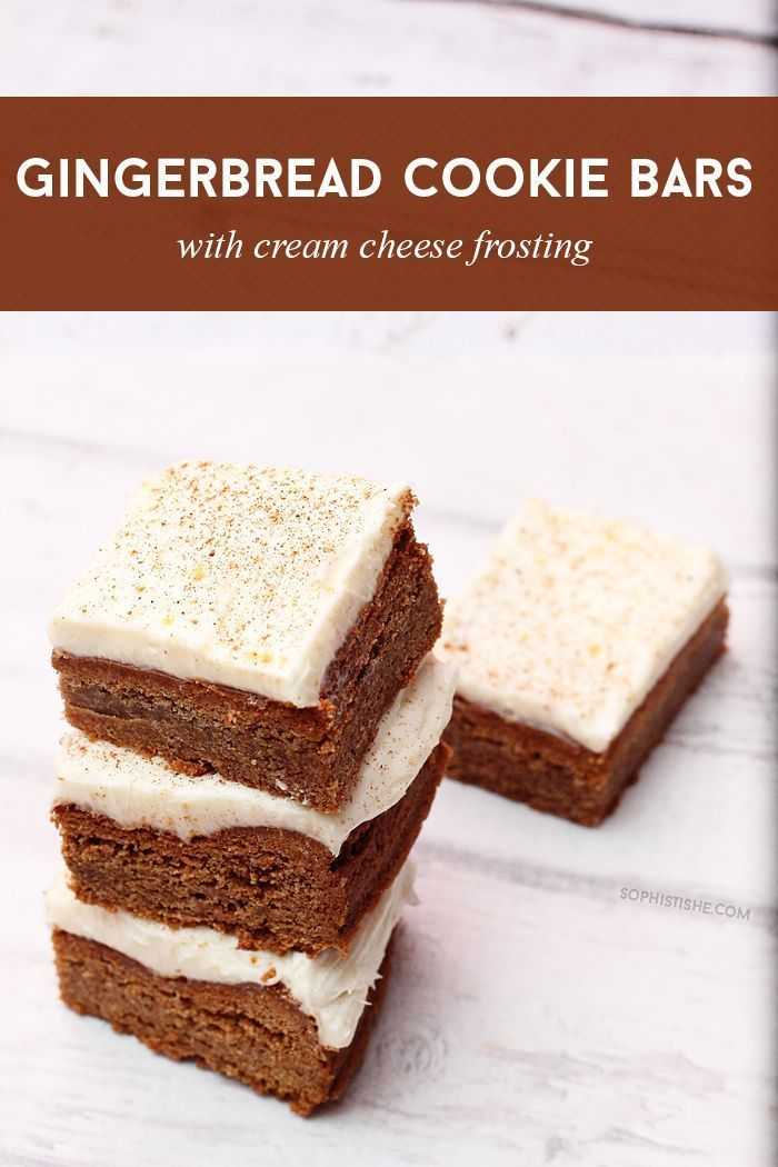 Cream cheese frosting, Gingerbread and Frostings on Pinterest