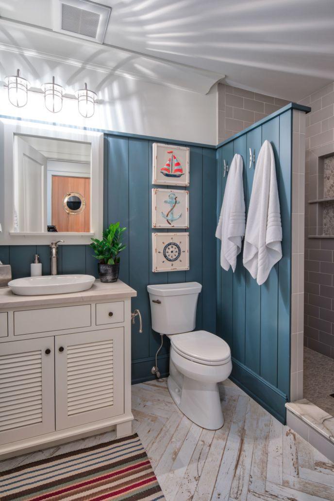 Lakeside Bluff Point Nautical Theme Bathroom Nautical Theme Bathroom Lake House Bathroom Bathroom Decor