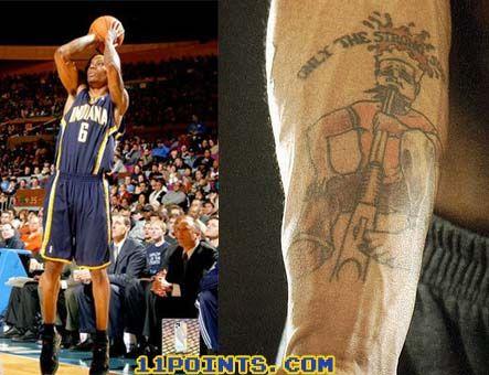 Marquis Daniels weird tattoo.
