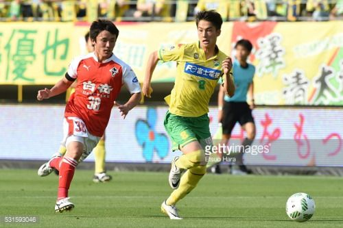 CHIBA, JAPAN - MAY 15: Haruya Ide of JEF United Chiba#8 and... #mullachide: CHIBA, JAPAN - MAY 15: Haruya Ide of JEF United… #mullachide
