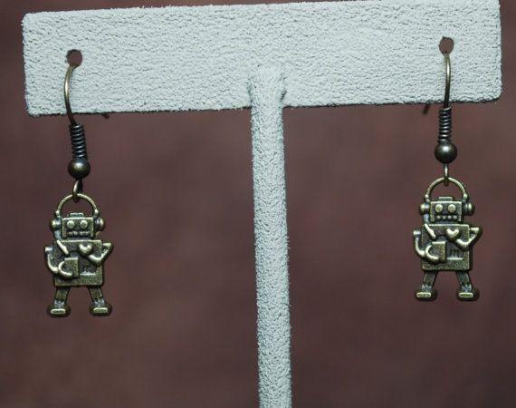 Robofunk earrings by AbandonedWarehouse on Etsy