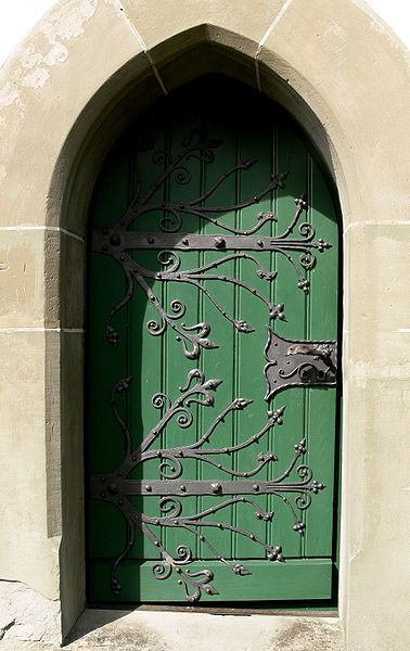 would make a good front door, but more solid oak and darker color. still green though, like an olive sage