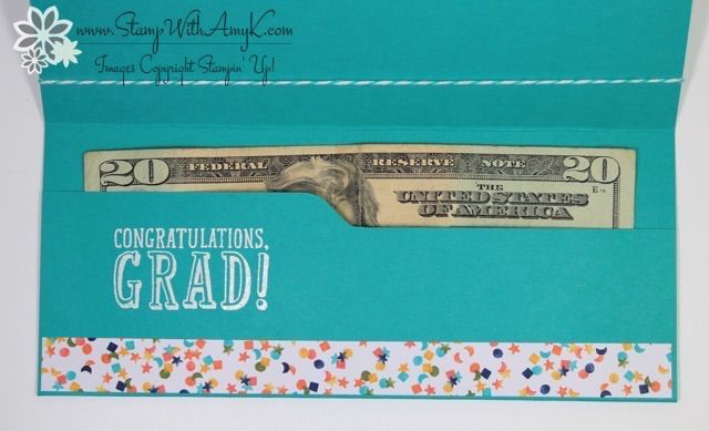 Stampin' Up! B.Y.O.P Money Holder Graduation Card