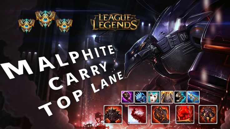 Malphite Top Pre Season 7 Gameplay Top Lane how to Carry Malphite