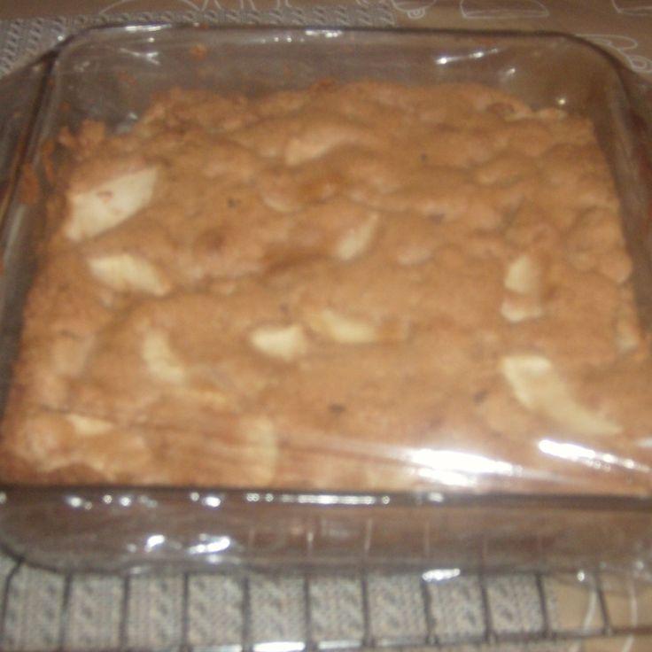 Apple Brownies - try in pampered chef brownie pan