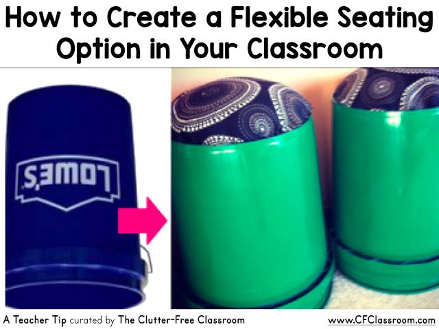 Are you trying flexible seating in your classroom? This alternative seating idea is cheap and easy to make.