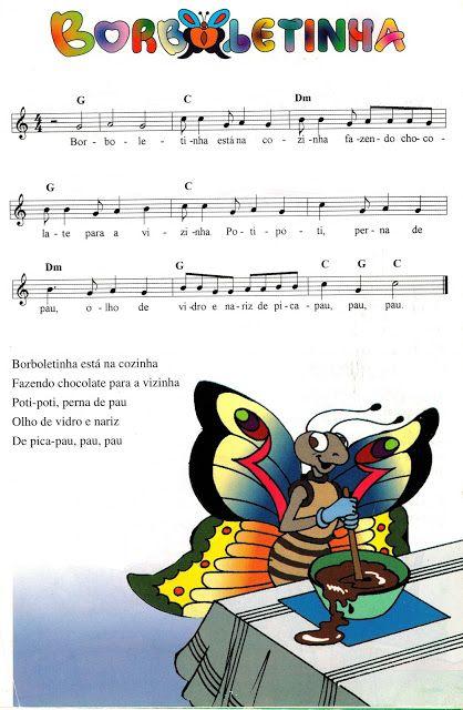 Partituras Musicais: Borboletinha - Coleção Infantil - n.º 930