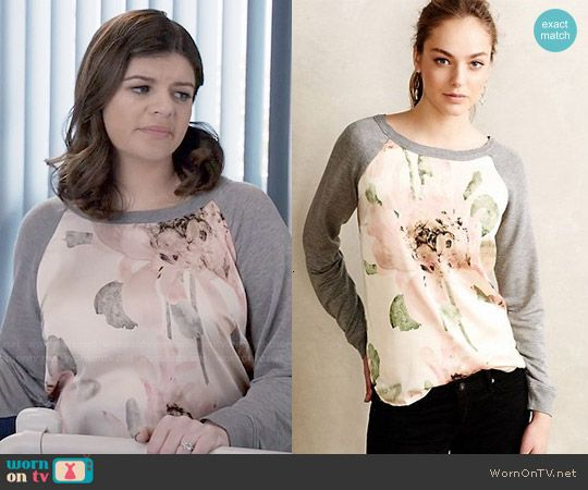 Annie's floral sweatshirt on Marry Me.  Outfit Details: http://wornontv.net/48802/ #MarryMe