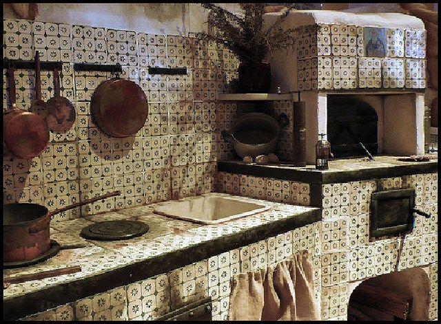 Risultati immagini per cucina a legna in muratura siciliana