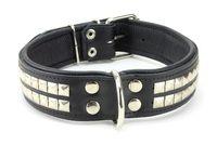 Collier GROS CHIEN en cuir noir 29€ http://www.hopdog.fr/colliers-pour-chiens-gros-et-molosses/collier-gros-chien-en-cuir-noir,fr,4,CMR2.cfm