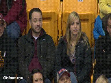Kiss Cam- This guy was prepared