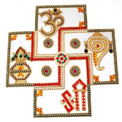 Rangolis - Buy Vaastu Panch Mangal Rangoli online in India | Dealtz.com