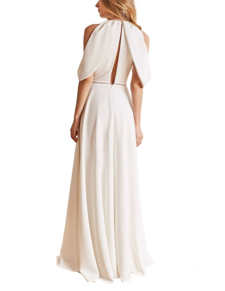 Bridal gown with ''wings'', ladder insert trim on the waist and sensual back cut. #maisonraquette by Violette and Dana Basoc