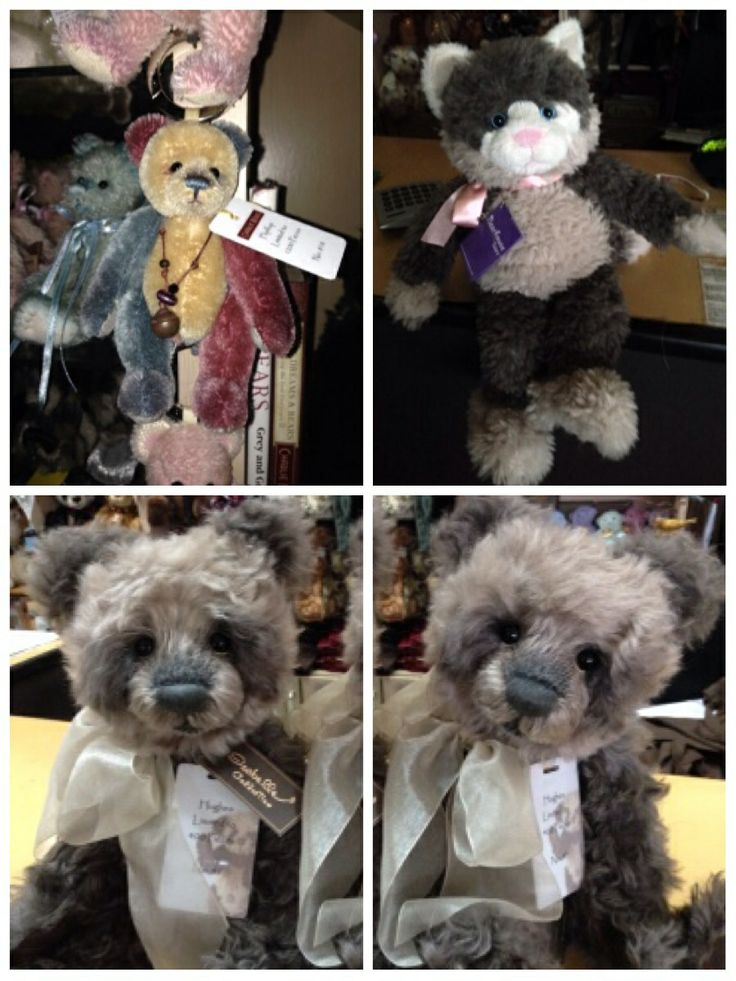 All available at the shop or on the web site www.teddybearsonmain.com.au  Flip Flop Keyring mohair $85. Canterbury the cat, Charlie Bears Bearhouse Bear $36. Hughes Isabelle collection mohair limited edition $322-