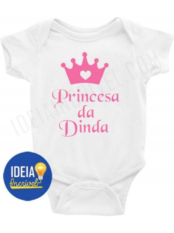 Body Infantil Princesa Da Dinda Roupas De Bebe Personalizadas Roupas De Bebe Body
