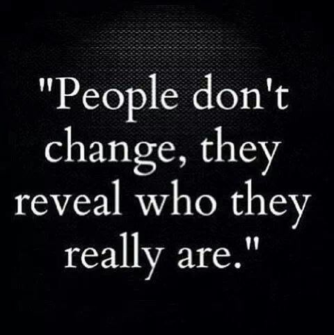 People don't change