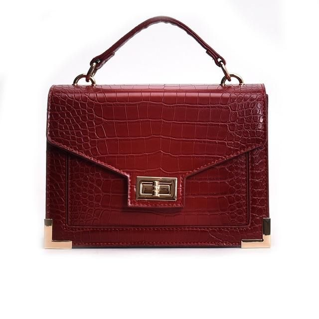 76820383bda Fashion Luxury Famous Designer Crocodile Women Handbag Casual Female ...