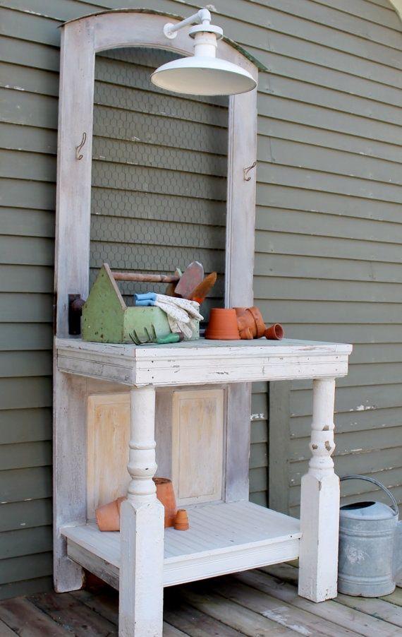 DIY Potting Benches - Lots of Ideas & Tutorials!