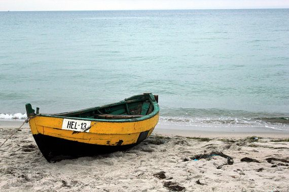 dinghy boat on the beach 5x7 13x18 fine art by AnnaKiperPhoto