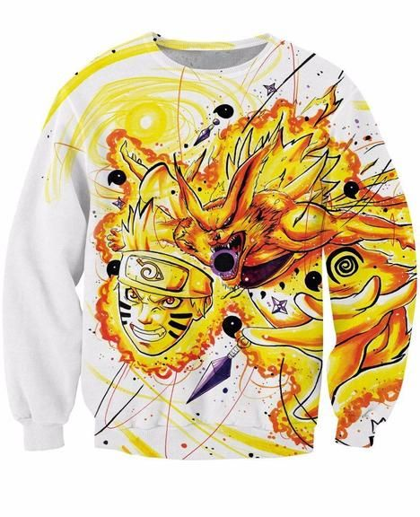 76c2e2a0 Naruto Anime Kyuubi Mode Graffiti Art Painting Dope 3D Sweatshirt #anime # sweatshirts #sweaters